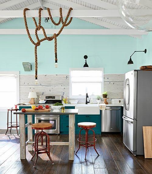 Algo nuevo, algo viejo y algo turquesa para diseñar una cocina 6