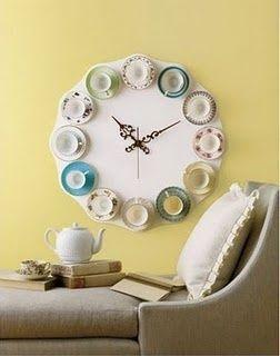 Cómo hacer un reloj de pared para cocinas vintage 1
