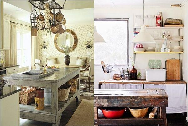 Cocinas con islas a partir de muebles reciclados cocinas for Puertas de material reciclado