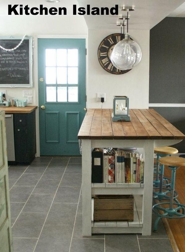 Cocinas con isla a partir de muebles reciclados 4