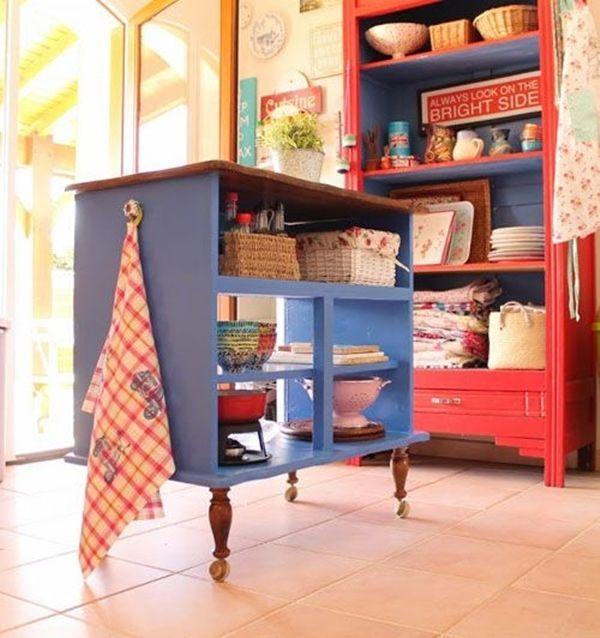 Cocinas con isla a partir de muebles reciclados 5