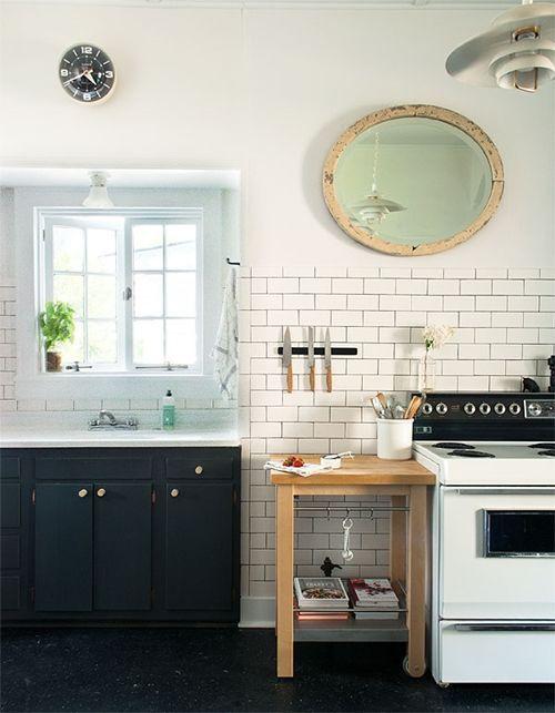 Idea para cocinas pequeñas ¡un espejo y verlo todo...! 2