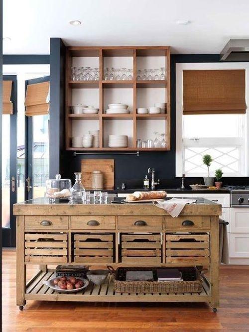 Cocinas con islas a partir de muebles reciclados  cocinas con encanto