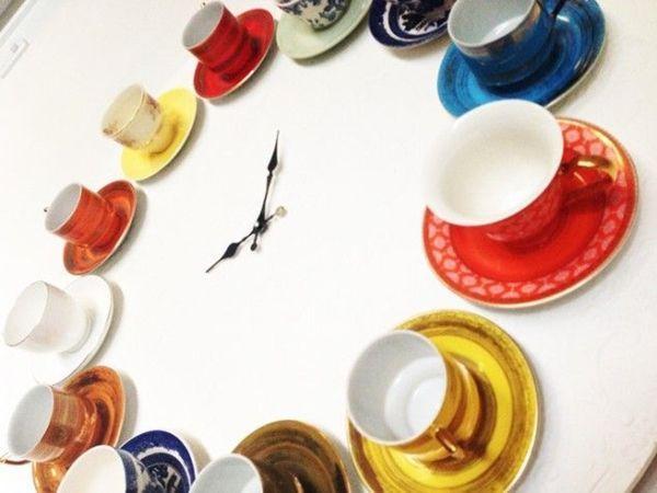 como hacer un reloj de pared para cocinas vintage 2