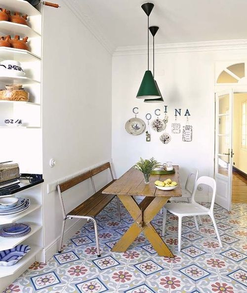 Suelos y azulejos para cocinas esto es tendencia - Suelos para cocinas rusticas ...