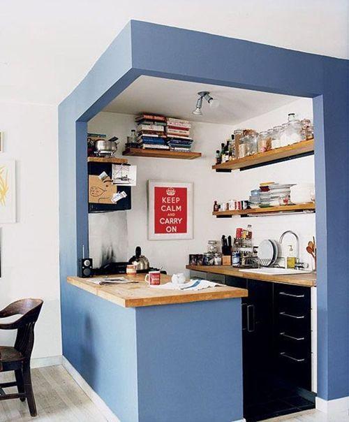 una cocina pequeña con ideas de decoracion actuales 1