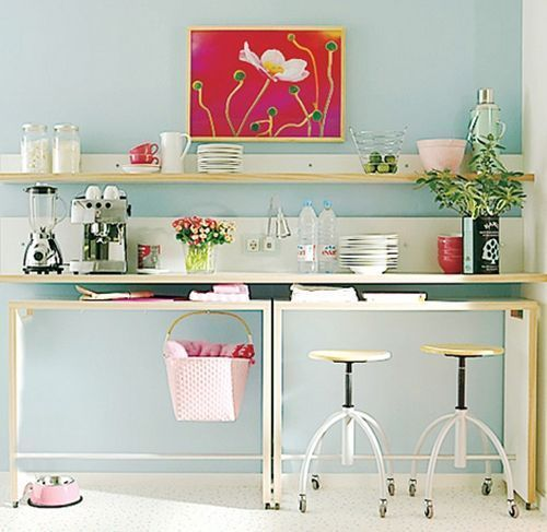 Mesas Altas De Cocina Como Alternativa A Las Mesas Plegables En Cocinas  Pequeñas 1