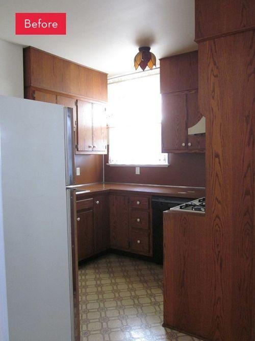 Un acertado cambio en los muebles de cocina el antes y el después... 1