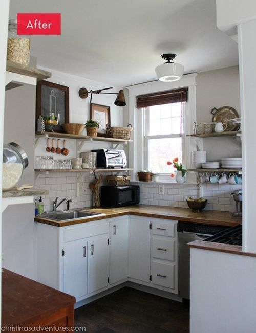 Un acertado cambio en los muebles de cocina el antes y el después... 2