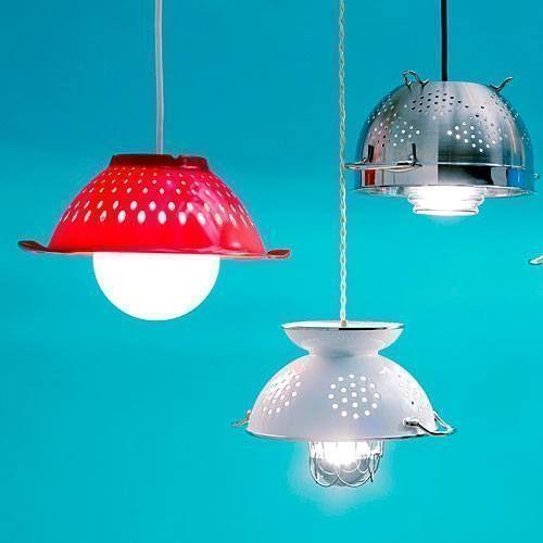Como hacer una lampara de techo para la cocina 2