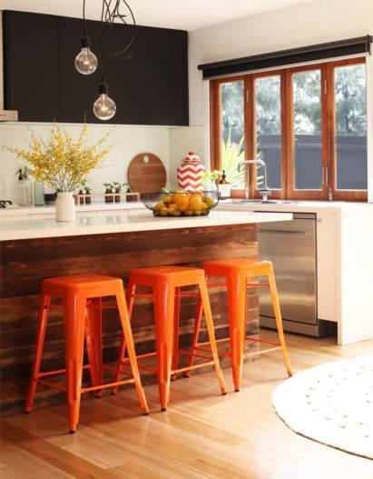 taburetes vintage para barras de cocina cocinas con encanto On taburetes cocina vintage