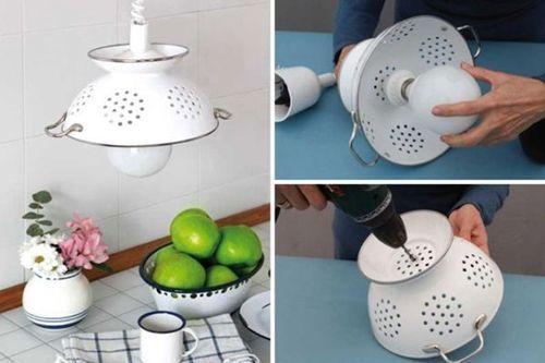 Como hacer una lampara de techo para la cocina 3