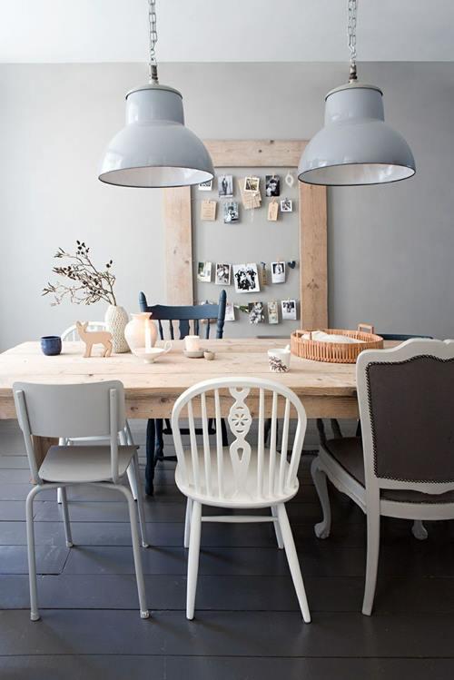 Cocina comedor cool con surtido de sillas mix & match 3