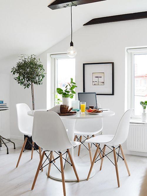 Mesas redondas de dise o para cocinas modernas cocinas con encanto - Mesa comedor pequena ...