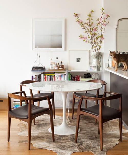 Mesas redondas de diseño para cocinas modernas 4