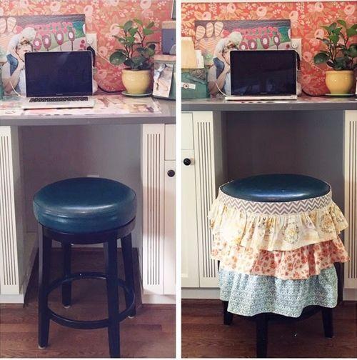 Reciclar muebles c mo tunear viejos taburetes de cocina - Reciclar muebles de cocina ...