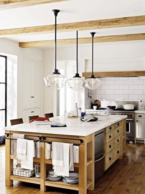 cocinas rusticas con encimeras de marmol son una buena eleccion 1