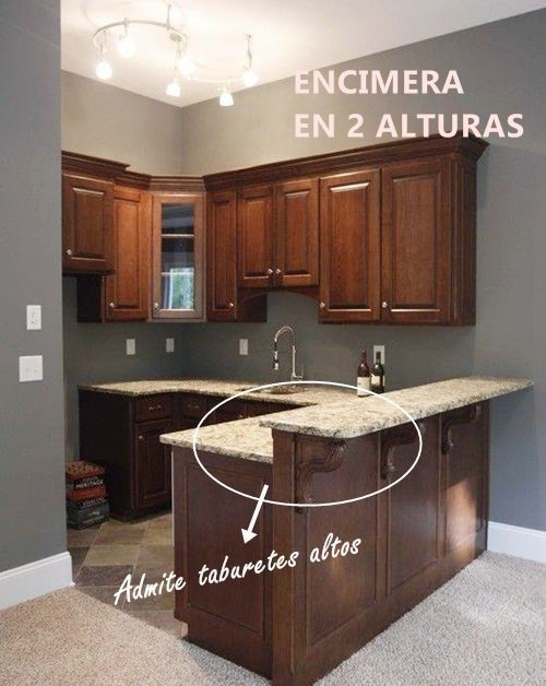 Barras de cocina qu altura es la correcta cocinas for Barra de granito para cocina precio