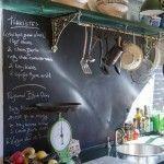 Cocinas vintage con pintura de pizarra