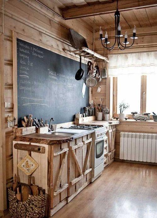 Cocinas vintage con pintura de pizarra 12