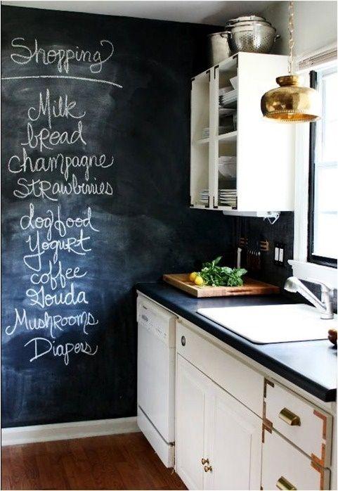 Cocinas vintage con pintura de pizarra 4