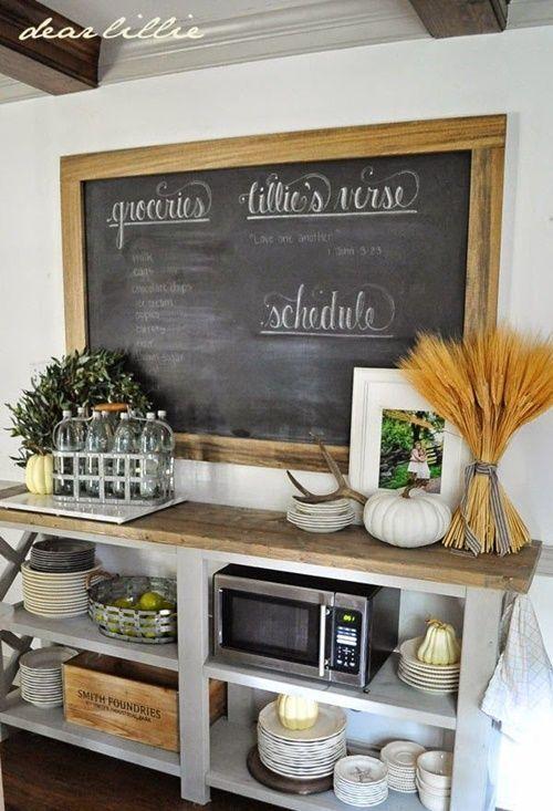 Cocinas vintage con pintura de pizarra 7