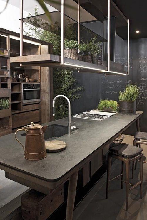 Cocinas vintage con pintura de pizarra cocinas con encanto - Cocinas con encanto ...