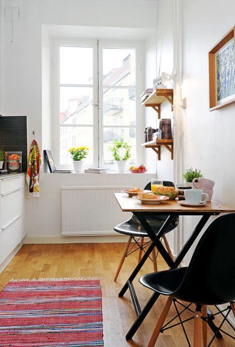 Las 10 mejores ideas de mesas para cocinas peque as - Cocinas pequenas con mesa ...