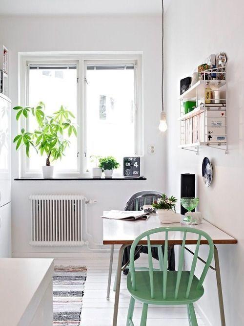 Las 10 mejores ideas de mesas para cocinas peque as - Cocinas pequenas con encanto ...