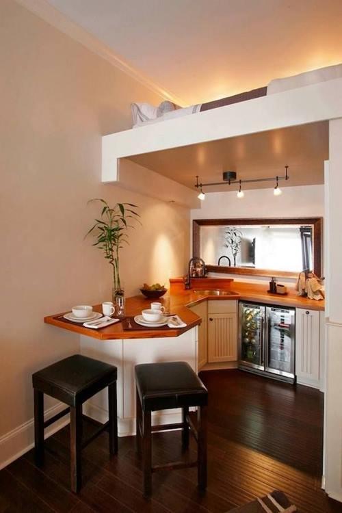Las 10 mejores ideas de mesas para cocinas peque as for Cocinas en departamentos pequenos
