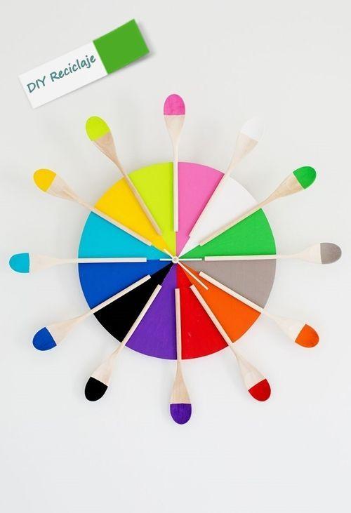 Manualidades reciclaje c mo hacer un reloj de cocina - Hacer un reloj de pared ...