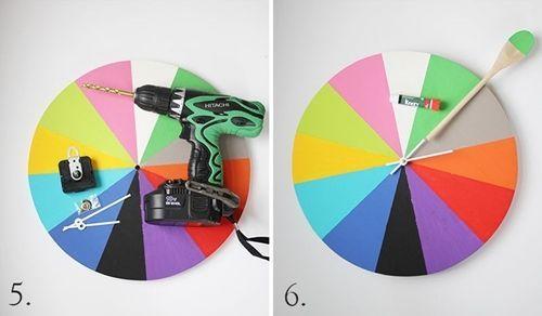 Manualidades reciclaje cómo hacer un reloj de cocina 4