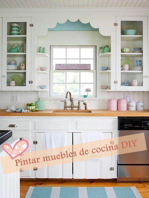 Pintar muebles de cocina con excelente resultado cocinas - Pintar muebles de cocina ...