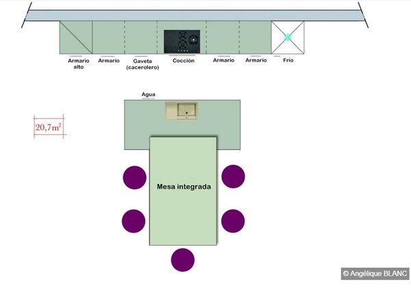 cocinas comedor con mesa integrada los consejos del arquitecto 2