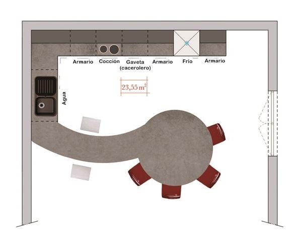 cocinas comedor con mesa integrada los consejos del arquitecto 4