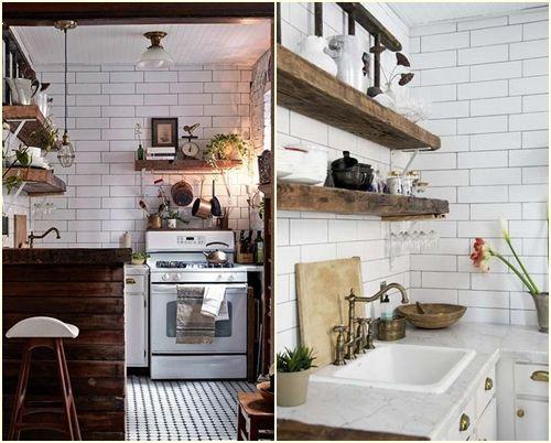 10 trucos para decorar cocinas r sticas cocinas con encanto - Mesas rusticas de cocina ...