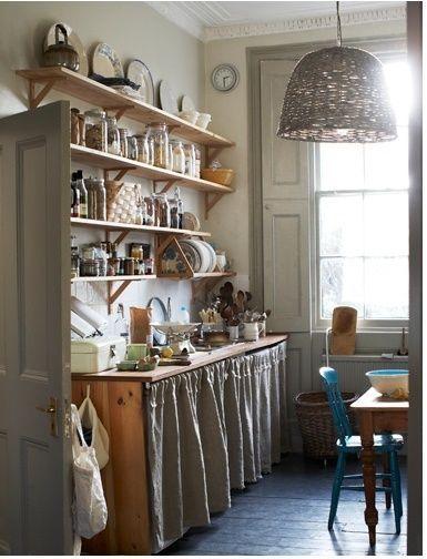 10 trucos para decorar cocinas r sticas cocinas con encanto for Repisas rusticas para cocina