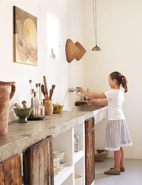 10 trucos para decorar cocinas r sticas cocinas con encanto for Mejor material para encimeras de cocina
