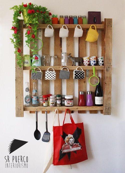 12 muebles hechos con palets para cocinas cocinas con for Casa y jardin tienda