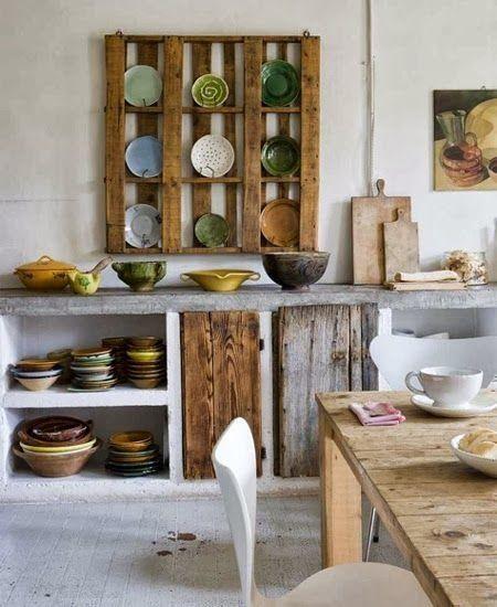 12 muebles hechos con palets para cocinas  cocinas con encanto