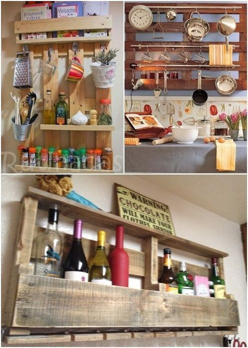 12 muebles hechos con palets para cocinas cocinas con - Tarima para cocina ...