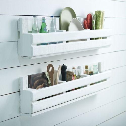 12 muebles hechos con palets para cocinas cocinas con - Que hacer con un palet ...