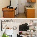 Frentes de cocina nuevos con estos azulejos adhesivos - Reformar cocina pequena ...