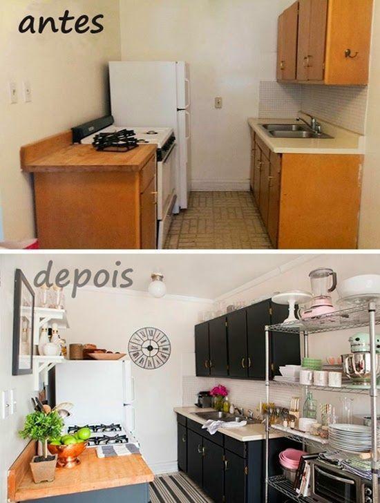C mo reformar una cocina peque a low cost cocinas con - Como distribuir una cocina pequena ...