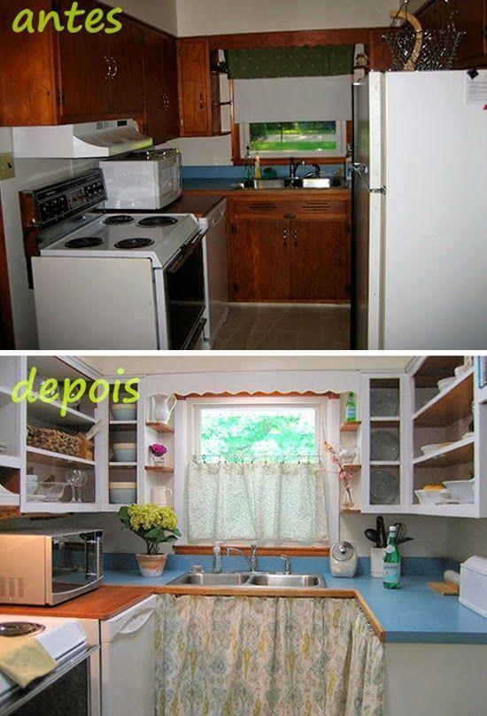 C mo reformar una cocina peque a low cost cocinas con - Cambiar puertas muebles cocina ...