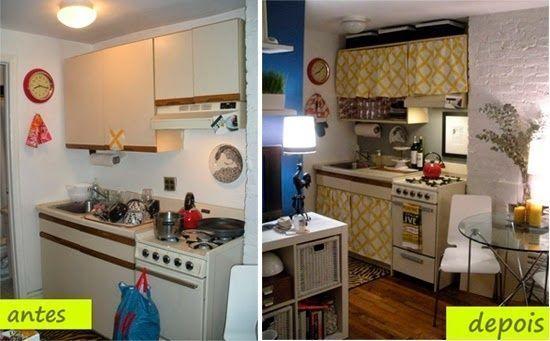 C mo reformar una cocina peque a low cost cocinas con for Reformar puertas