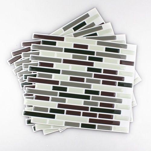 Frentes de cocina nuevos con estos azulejos adhesivos for Adhesivos para azulejos de bano