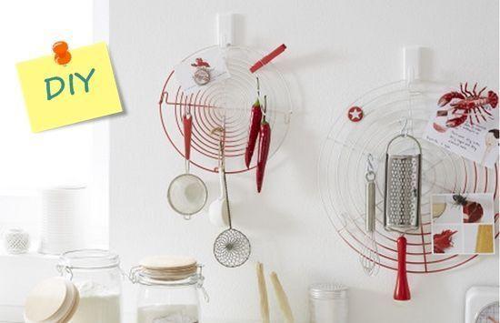 Manualidades para la cocina reciclaje creativo de rejilla enfriadora 6