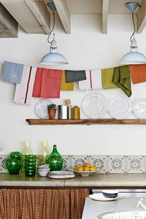 Decoración de cocinas vintage con detalles originales y sencillos 1