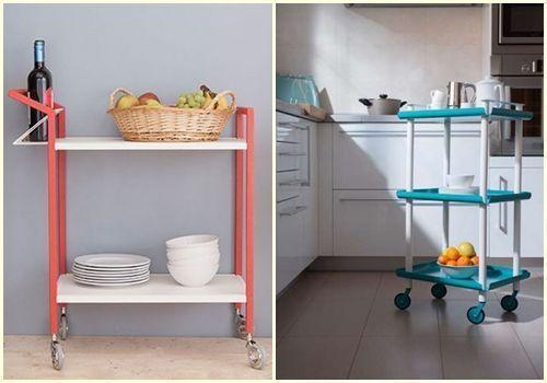 Decoracion cocinas r sticas vintage retro y modernas con - Carritos para cocina ...